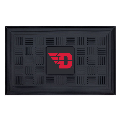 "19.5"" x 31.25"" Black and Red NCAA Flyers 3-D Team Medallion Door Mat - IMAGE 1"