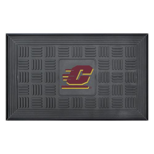 "19.5"" x 31.25"" Gray Medallion NCAA Central Michigan University Chippewas 3-D Team Door Mat - IMAGE 1"