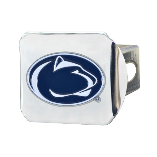 """4"""" Silver NCAA Penn State Nittany Lions Color Class III Hitch Cover Auto Accessory - IMAGE 1"""