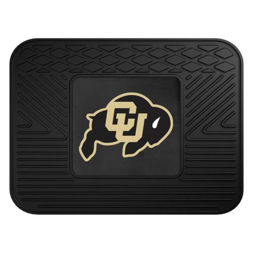 "14"" x 17"" Black NCAA University of Colorado Buffaloes Rear Car Seat Utility Mat - IMAGE 1"