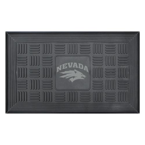 "31.25""x19.5"" NCAA University of Nevada Wolf Pack 3-D Team Medallion Vinyl Door Mat - IMAGE 1"
