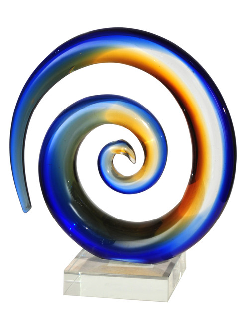 """8"""" Mystification Multicolored Handcrafted Art Glass Sculpture - IMAGE 1"""
