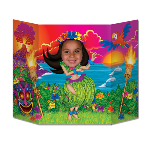 """Pack of 6 Vibrantly Colored Luau Female Hula Dancer Photo Prop Decors 37"""" - IMAGE 1"""