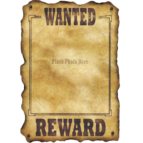 """Club Pack of 12 Brown Country Western Wanted Sign Cutout Decors 17"""" - IMAGE 1"""