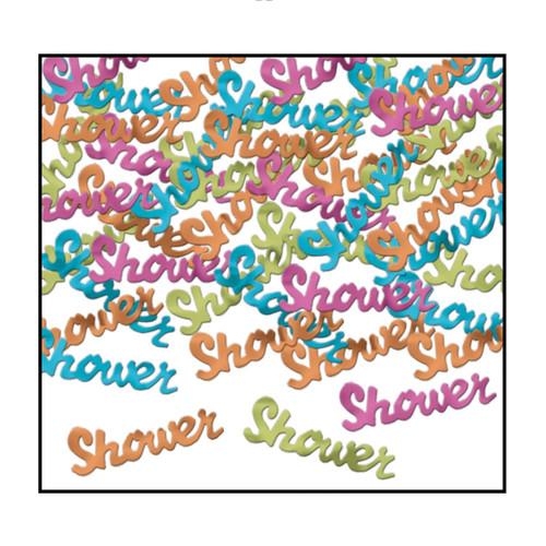 Club Pack of 12 Blue and Purple Fanci-Fetti Shower Celebration Confetti Bags 0.5 Oz - IMAGE 1