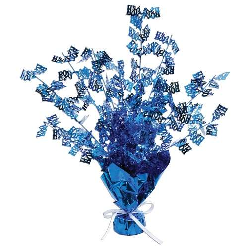 """Club Pack of 12 Blue Baby Shower Gleam N Burst Tabletop Centerpieces Decors 15"""" - IMAGE 1"""