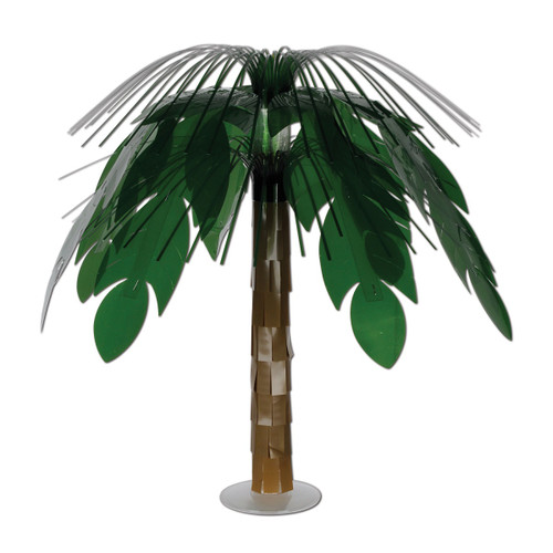"""Pack of 6 Green and Brown Jungle Palm Cascade Table Centerpiece Party Decors 18"""" - IMAGE 1"""