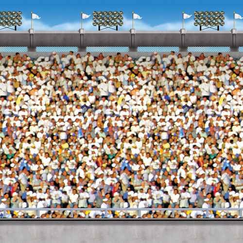 Pack of 6 Multi-Color Upper Deck Stadium Backdrop Wall Decor 30' - IMAGE 1