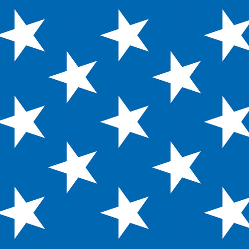 Pack of 6 Blue and White Patriotic Stars Photo Backdrop Wall Decor 30' - IMAGE 1