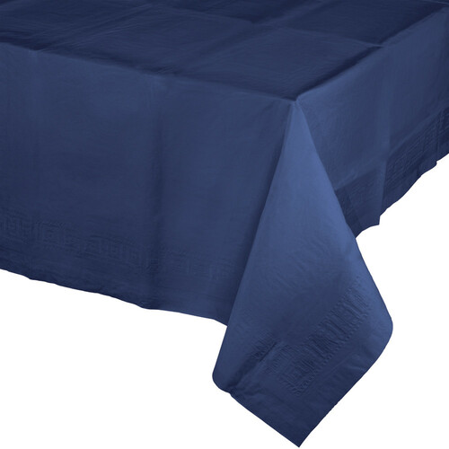 Pack of 6 Navy Blue Disposable Banquet Party Table Covers 9' - IMAGE 1
