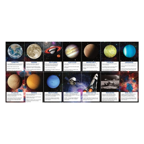 """Pack of 168 Vibrantly Colored Space Blast Fact Party Favors Card 4"""" - IMAGE 1"""