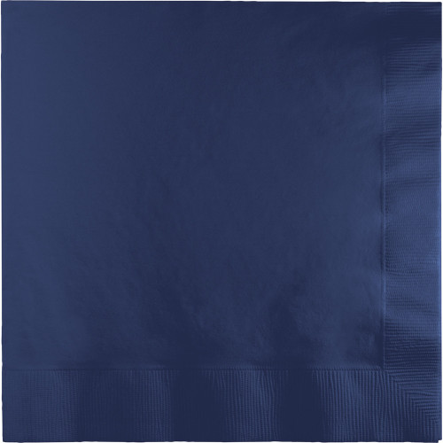"""Club Pack of 250 Navy Blue Solid 3-Ply Disposable Dinner Napkins 8.75"""" - IMAGE 1"""