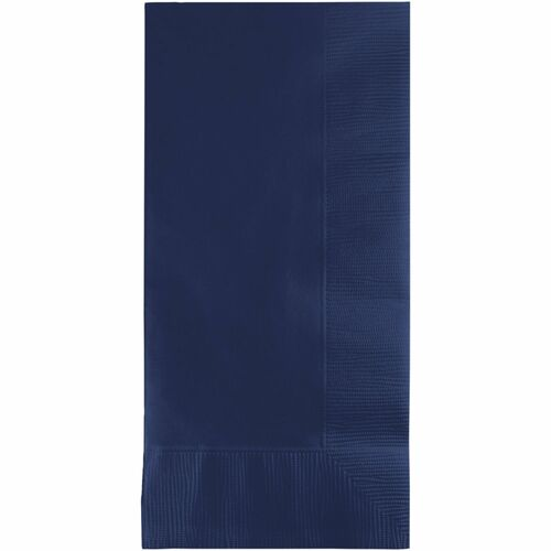 """Club Pack of 600 Navy Blue 2-Ply Disposable Party Guest Napkins 8"""" - IMAGE 1"""