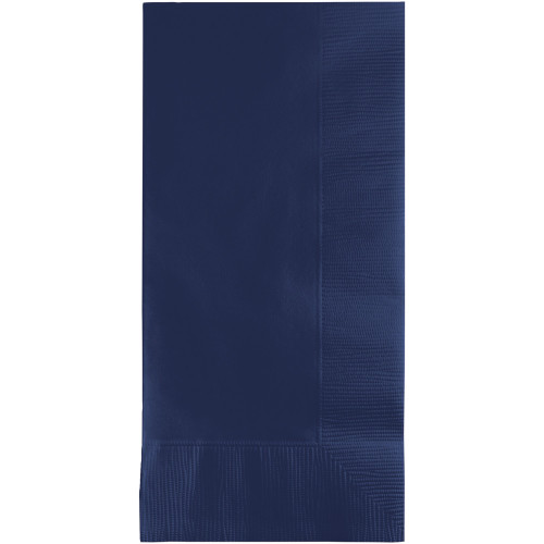 """Club Pack of 600 Navy Blue Premium 2-Ply Disposable Dinner Napkins 8"""" - IMAGE 1"""