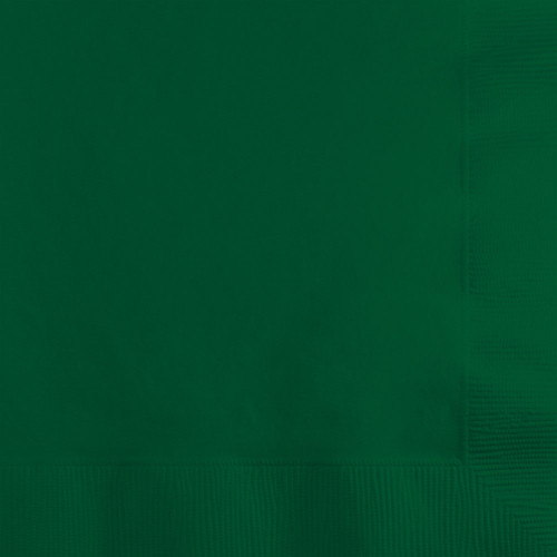 """Club Pack of 1200 Hunter Green 2-Ply Disposable Beverage Napkins 5"""" - IMAGE 1"""