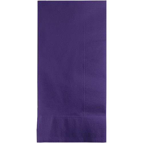 """Club Pack of 600 Purple Disposable Dinner Napkins 8"""" - IMAGE 1"""