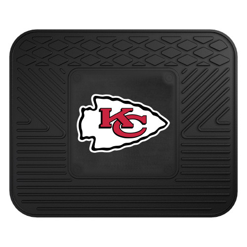 """14"""" x 17"""" Black and Red NFL Kansas City Chiefs Rear Car Seat Utility Mat - IMAGE 1"""