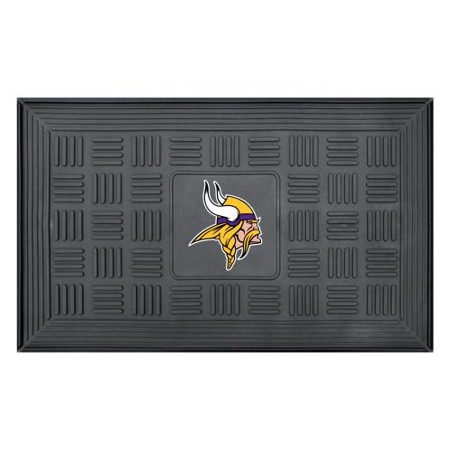 "19.5"" x 31.25"" White and Yellow NFL Minnesota Vikings 3-D Team Medallion Doormat - IMAGE 1"