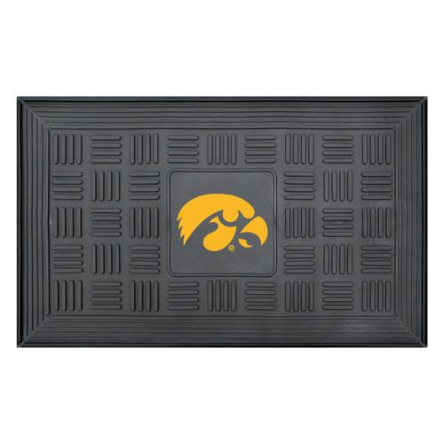 "19.5"" x 31.25"" Black and Yellow NCAA University of Iowa Hawkeyes Outdoor Door Mat - IMAGE 1"