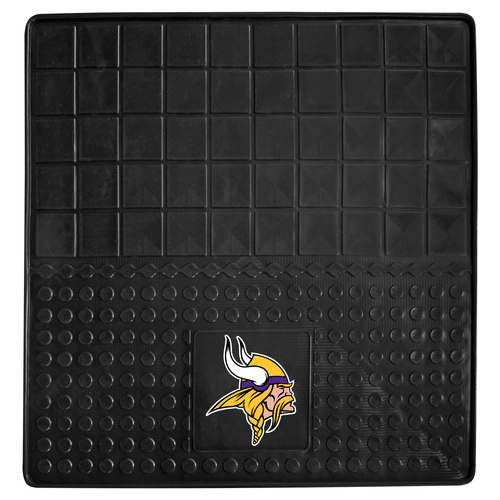 "31"" x 31"" Black and Yellow NFL Minnesota Vikings Cargo Mat - IMAGE 1"