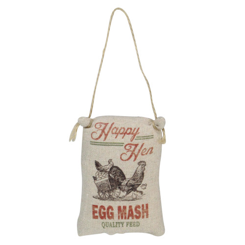 """4.5"""" Brown and Red Chicken Sack """"Happy Hen"""" Plush Christmas Ornament - IMAGE 1"""