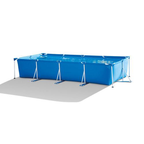14.75ft x 2.75ft Rectangular Frame Above Swimming Pool with Filter Pump - IMAGE 1