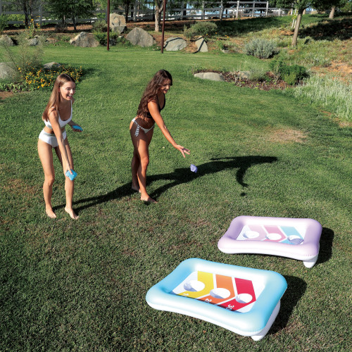 Inflatable Bean Bag Toss Swimming Pool Game - IMAGE 1