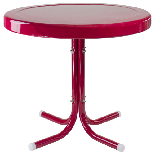 """22"""" Outdoor Retro Tulip Side Table, Pink - IMAGE 1"""