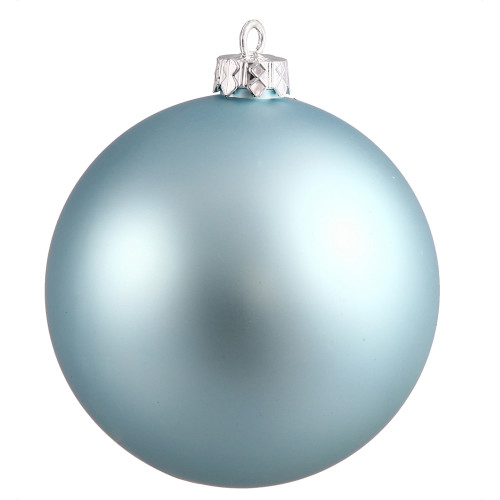 """Matte Baby Blue Commercial Shatterproof Christmas Ball Ornament 10"""" (250mm) - IMAGE 1"""