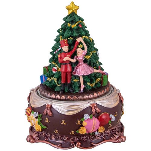"6.25"" Musical Nutcracker and Ballerina Christmas Music Box - IMAGE 1"
