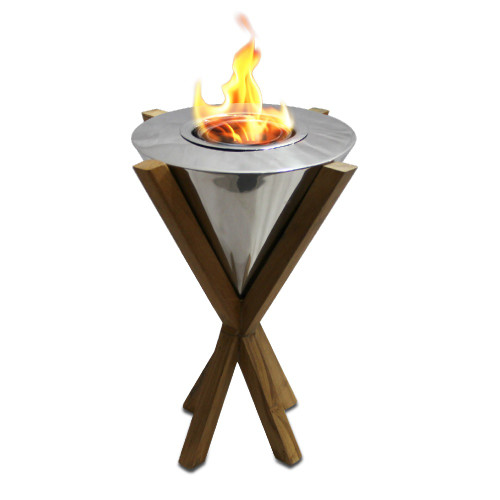 Anywhere Fireplace Indoor/Outdoor Fireplace - Southampton Teak Table Top Fireplace - IMAGE 1