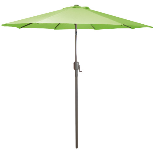 9ft Outdoor Patio Market Umbrella with Hand Crank and Tilt, Lime Green - IMAGE 1