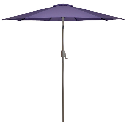 9ft Outdoor Patio Market Umbrella with Hand Crank and Tilt - Purple - IMAGE 1