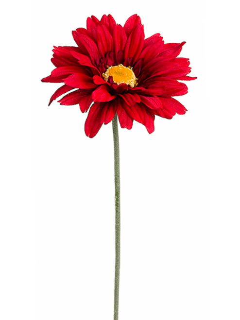 "27"" Red Gerbera Daisy Flower Artificial Floral Craft Spray - IMAGE 1"