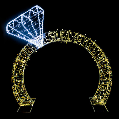 13ft Lighted Commercial Grade LED Diamond Ring Outdoor Display Decoration - IMAGE 1