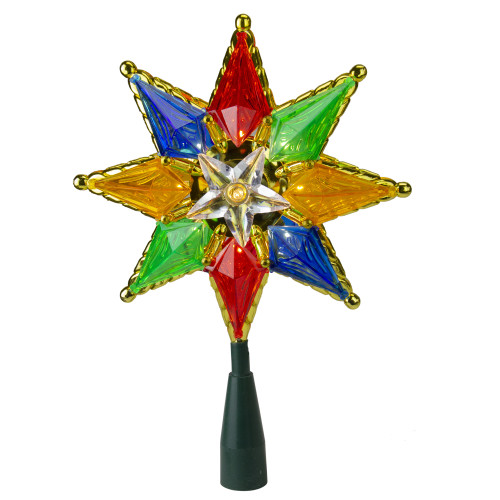 """32"""" Multi-Color Lighted Star Christmas Tree Topper - Clear Lights - IMAGE 1"""