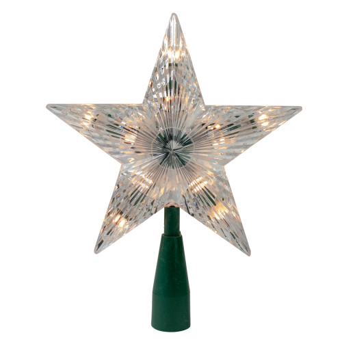 """9"""" Classic 5-Point Star Christmas Tree Topper - Clear Lights - IMAGE 1"""