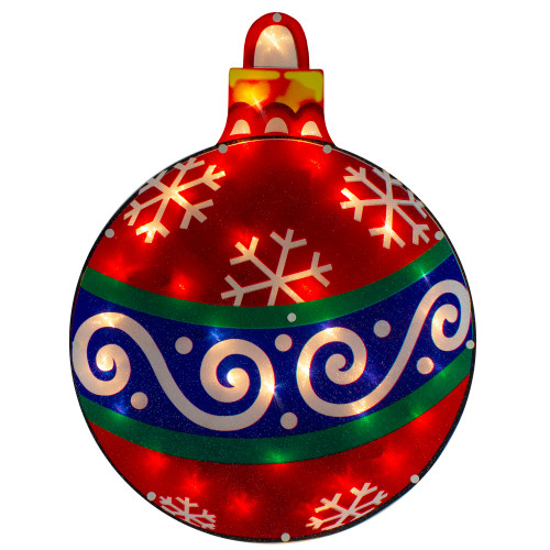 """19.5"""" Lighted Christmas Ornament Window Silhouette - IMAGE 1"""