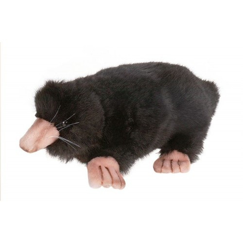 "Set of 4 Black Handcrafted Plush Mole Stuffed Animals 9"" - IMAGE 1"