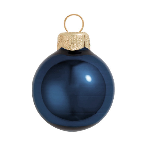 """Midnight Blue Pearl Glass Ball Christmas Ornament 7"""" (180mm) - IMAGE 1"""
