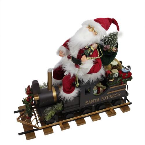 "22"" Santa Express Train Christmas Figure on Railroad Track Base - IMAGE 1"