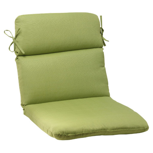 "40.5"" Olive Green Solid Outdoor Patio Rounded Chair Cushion - IMAGE 1"