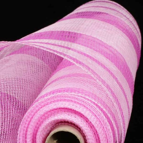 """Classic and Light Pink Deco Mesh Craft Ribbon 21"""" x 40 Yards - IMAGE 1"""
