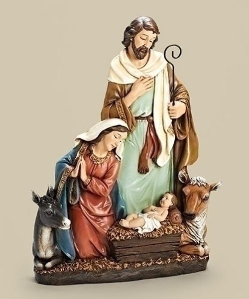 "24"" Joseph Studio Holy Family with Donkey & Ox Christmas Nativity Statue - IMAGE 1"