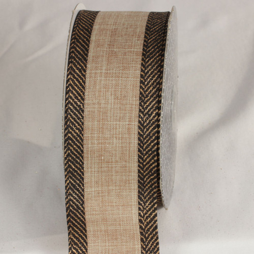 """Brown Solid Wired Craft Ribbon 2.5"""" x 20 Yards - IMAGE 1"""