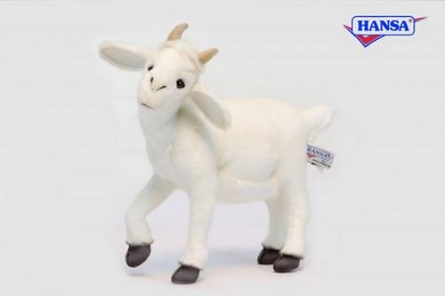 "Set of 3 White Handcrafted Soft Plush Baby Goat Stuffed Animals 14.25"" - IMAGE 1"