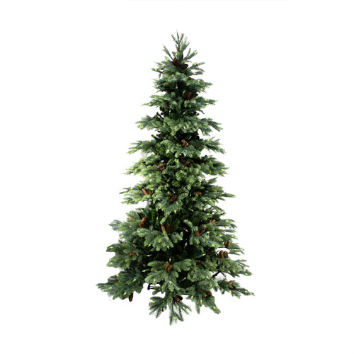10' Pre-Lit Green Medium England Pine Artificial Christmas Tree - Clear Lights - IMAGE 1