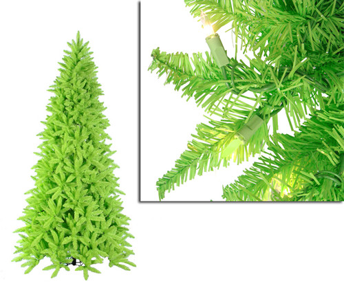 7.5' Orchid Pink Cedar Pine Artificial Christmas Tree