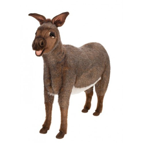 """43"""" Brown and Black Handcrafted Donkey Stuffed Animal - IMAGE 1"""
