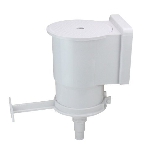 """13.75"""" White Wide Mouth Thru Wall Skimmer with Brace and Face Plate - IMAGE 1"""